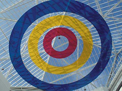 Réalisation décorative de cercle coloré concentrique